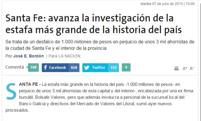 El Banco Galicia y el Caso Bolsafe. Comunicado sobre la acción colectiva iniciada por UCU.