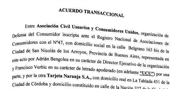 Acuerdo UCU c Tarjeta Naranja