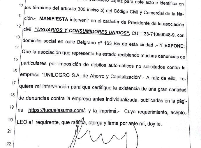 UCU demanda a UNILOGRO S.A. por prácticas abusivas
