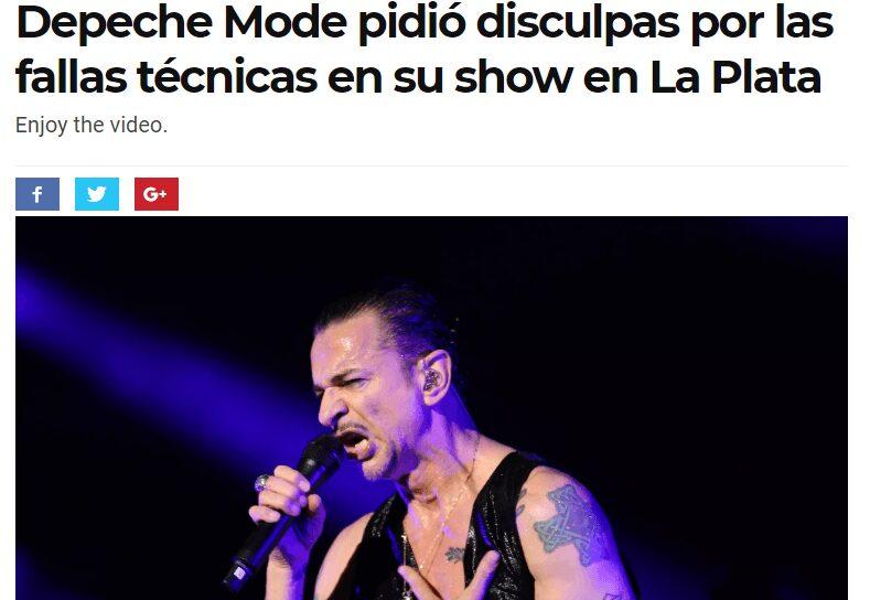 Recital de Depeche Mode: UCU interpuso demanda colectiva.